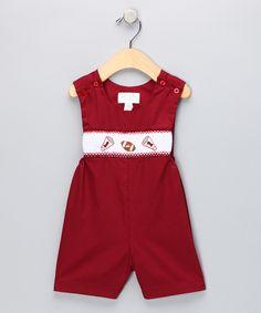 Look at this Crimson Football John Johns - Infant