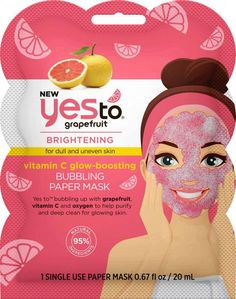 #DailyFaceCare Yes To Grapefruit, Paper Face Mask, Clay Face Mask, Face Scrub Homemade, Homemade Face Masks, Witch Hazel For Skin, Pore Mask, Skin Care, Heart Broken