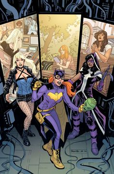 Batgirl and Birds of Prey #5 by Yanick Paquette, colours by Nathan Fairbairn *