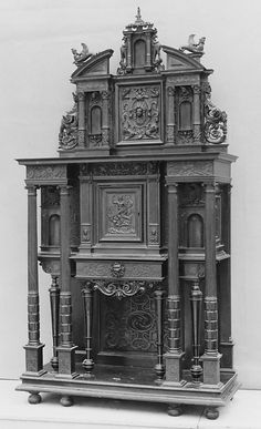 Cabinet Style of Jacques Androuet Du Cerceau (French, Paris 1510/12–1585 Annecy) Date: 19th century Culture: French Medium: Walnut