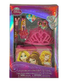 Disney Princess Cosmetic Set with Tiara in Box: Disney Princess Cosmetic and Hair 6 Piece Gift Set with Tiara and Bonus Beauty Bag. Princess Dress Up, Princess Tiara, Little Princess, Disney Princess, Cosmetic Sets, Cosmetic Pouch, Flavored Lip Gloss, Toys For Girls, Kids Christmas