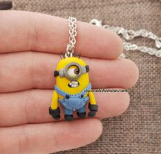 1minion+made+in+italy+polymerclay+despicable+me+by+AlchemianShop,+€25.00
