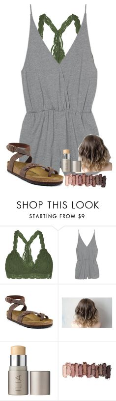 """""""Sorry i've been gone so long y'all """" by abby14310 ❤ liked on Polyvore featuring Youmita, Birkenstock, Ilia and Urban Decay"""