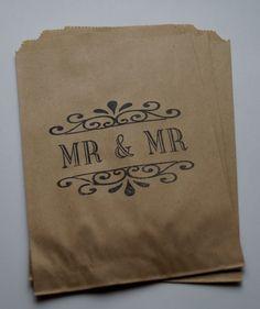 50 Brown Kraft retro Gay/Civil Partnership by Marrymevintageirish, $20.00