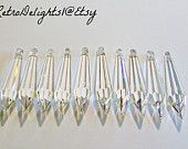 20 Asfour 76mm Crystal Prisms,Wedding Crystal, Faceted Crystals, Wishing Tree Crystal, Lamp Crystal,Feng Shui Pendant, Wedding Tree Crystal - pinned by pin4etsy.com