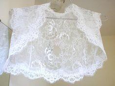 Snow Tiger Ballade white bridal lace bolero jacket por angelikaliv