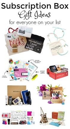 Here's a great list of subscription boxes - they make great gift ideas for women, men, kids, teens, book lovers, travelers, and more!