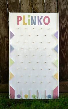 Plinko game, I made it to use during singing time.  It was a huge hit!  It's already been used in 3 wards.  My brother made the plans for it and sells them on etsy.
