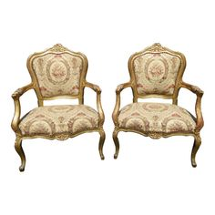 Pair of Antique French Century Style Louis XVI Gold Rococo Ornate Accent Chairs Affordable Furniture Stores, Unique Furniture, Cheap Furniture, Kids Furniture, Antique French Furniture, Vintage Furniture, Bergere Chair, Armchair, Kilim Ottoman