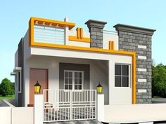 Modern classic house design modern house design ideas exterior home classic e result for elevations of House Front Wall Design, Single Floor House Design, Village House Design, Bungalow House Design, Small House Design, Modern House Design, Front Elevation Designs, House Elevation, Building Elevation
