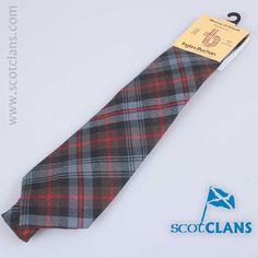Wool tie in Murray Weathered tartan from ScotClans
