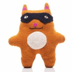 Dash Alpaca Baby Stuffy Cat in hand knitted alpaca at Bonjour Baby Baskets - Luxury Baby Gifts