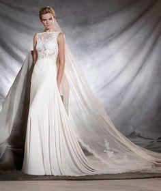 Pronovias Wedding Dress 2017, Pronovias Bridal, Wedding Dress Necklines, Lace Wedding Dress, Perfect Wedding Dress, Bridal Wedding Dresses, Dream Wedding Dresses, 2017 Wedding, Bridal Gown Styles