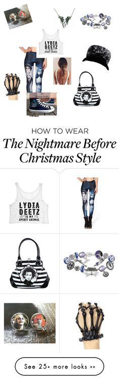 """Tim burton"" by onedirectionlondan on Polyvore featuring Converse and The Bradford Exchange"