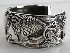 carp koi fish cuff bracelet