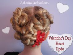 http://babesinhairland.com/hairstyles/holiday-themed-hairstyles/valentines-day-heart-updo/