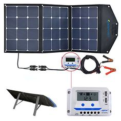 Acopower 120w Portable Solar Panel 12v Foldable Solar Charger With 10a Lcd Charge Controller In Suitcase Review Portable Solar Panels Solar Panels Solar Panel Cost