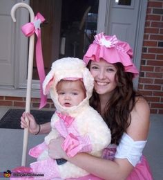 Little Bo Peep and Her Sheep - Parent & Baby Halloween Costume Idea