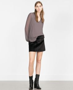 V-NECK TOP-View all-Tops-Woman-COLLECTION SS16 | ZARA United Kingdom