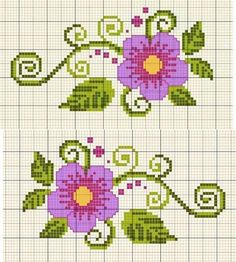 Here you can look and cross-stitch your own flowers. Diy Embroidery Stitches, Cross Stitch Embroidery, Embroidery Patterns, Hand Embroidery, Cross Stitch Boards, Cross Stitch Rose, Cross Stitch Flowers, Counted Cross Stitch Patterns, Cross Stitch Designs