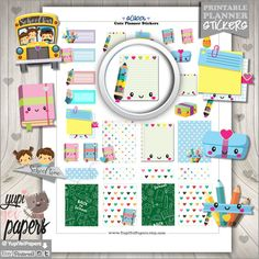 School Planner Stickers by www.YupiYeiPapers.etsy.com