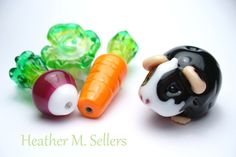 Heather Sellers Art Glass: Bullet the Guinea Pig
