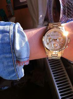 gold watch.