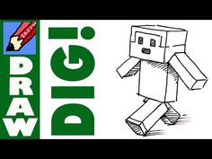How to draw a Minecraft type person