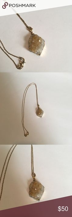 """Anthropologie necklace Anthropologie rock necklace. Length is 16.5"""". Never worn in perfect condition. Gorgeous piece! Will ship next day :) Anthropologie Jewelry Necklaces"""