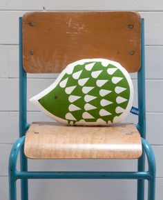 Hand Screen Printed Hedgehog Pillow in Grass by robinandmould, £18.00 - This would be perfect for emily!