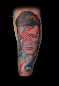 Ziggystar dust Tattoo by Craig Harris, Frostbite Tattoo, NZ