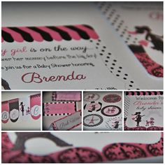 Paris Themed baby shower set INCLUDING invitations!!