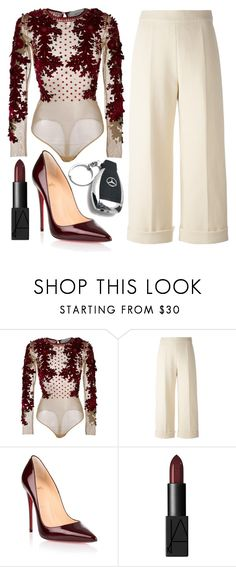 """Untitled #193"" by steeniebean ❤ liked on Polyvore featuring Amen, Delpozo, Christian Louboutin, NARS Cosmetics and Mercedes-Benz"