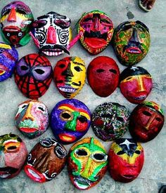 Masks from the Arte Moris art school in Timor Leste
