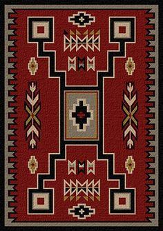 American Dakota Voices Old Crow Red Area Rug – Rugs usa Beige Carpet, Diy Carpet, Patterned Carpet, Modern Carpet, Hall Carpet, Cheap Carpet, Stair Carpet, Navajo Rugs, Southwestern Decorating