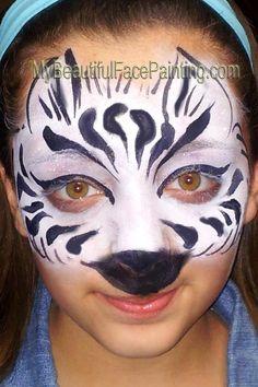 My Beautiful Face Painting - zebra mask!
