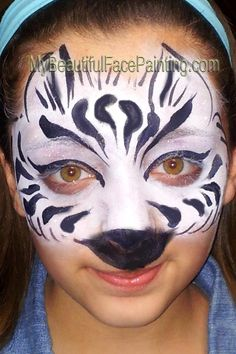 My Beautiful Face Painting - zebra mask!