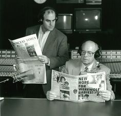 "Original publicity photos of Carl Kasell and Peter Sagal for ""Wait Wait, Don't Tell Me..."""