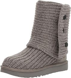 16 Styles of chic and affordable winter boots for women that are perfect for your winter outfits | UGG Women's Classic Cardy Ugg Shoes, Shoe Boots, Shoes Sneakers, Grey Uggs, Kids Ugg Boots, Ugg Kids, Ugg Classic Cardy, The New Classic, Knit Boots