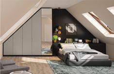 Wenn Du Ein Schlafzimmer Mit Dachschräge Hast, Ist Ein Maßgefertigter  Kleiderschrank Mit Seitlicher Schräge Genau Das Richtige Für Dich.