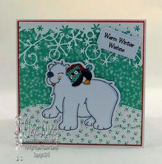"High Hopes Stamps: Polar Hug! by Cheri using  ""Polar Hug"" (SS001) & ""Dot Warm Winter Wishes"" (H257)"