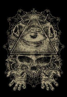 eye in the triangle all seeing eye proverbs | art illustration illuminati triangle all seeing eye god eye crown ...