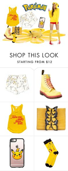 """""""Pokemon"""" by bren-johnson ❤ liked on Polyvore featuring Citizens of Humanity, INC International Concepts, Dr. Martens, Nancy Gonzalez and Casetify"""