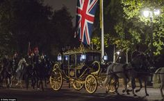 Honour: This carriage, which will carry Mr Xi and the Queen to Buckingham Palace, was pull...