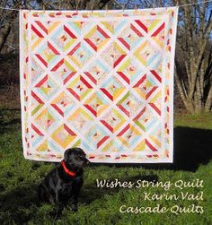 Moda Bake Shop: Wishes string quilt. The amazing border is what makes all the differrnece.