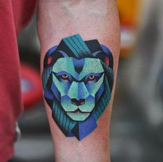 Surreal Lion Tattoo by David Cote