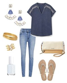 """""""Untitled #305"""" by kmysoccer on Polyvore featuring Cheap Monday, Violeta by Mango, Stella & Dot, Bold Elements, M&Co and Essie"""