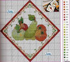 Cross Stitch Fruit, Cross Stitching, Advent Calendar, Kids Rugs, Holiday Decor, Crafts, Home Decor, Dish Towels, Cross Stitch Embroidery