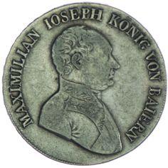 Bayern. Maximilian Joseph 1806 - 1825  Taler 1812 Silber