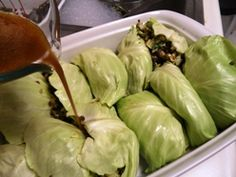 asian cabbage rolls with spicy lentils (Dr. Oz  2 week)